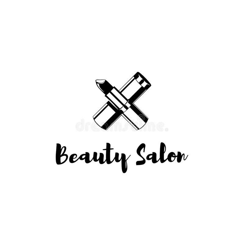 Steekproefkenteken voor een schoonheidssalon, een schoonheid en een schoonheidsmiddelenproduct, lippenstiftetiket, de kosmetiekpr vector illustratie