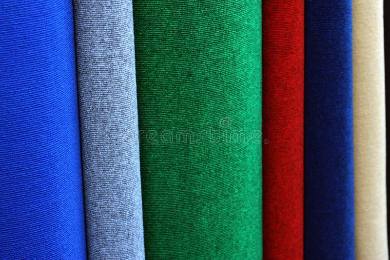 Steekproeven van kleurrijke tapijten stock afbeelding