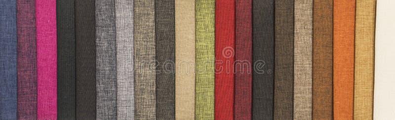Steekproeven van textiel royalty-vrije stock afbeeldingen