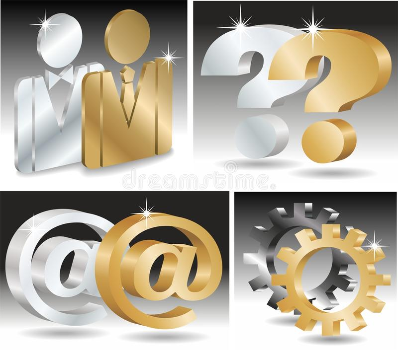 Download Steel 3d Icon Set Stock Photo - Image: 15122620
