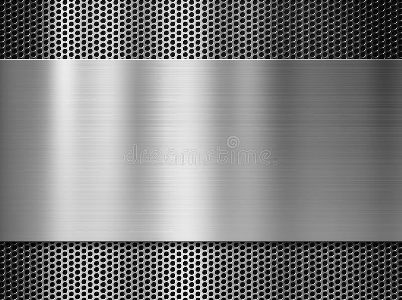 Steel or aluminum metal plate over grill stock photo