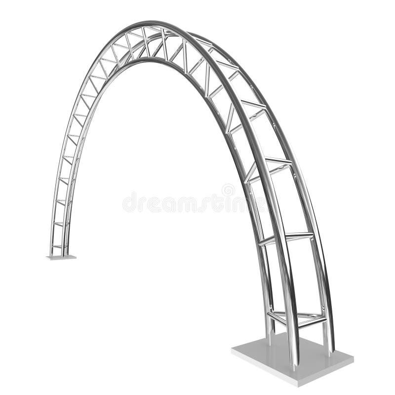 Steel arch vector illustration