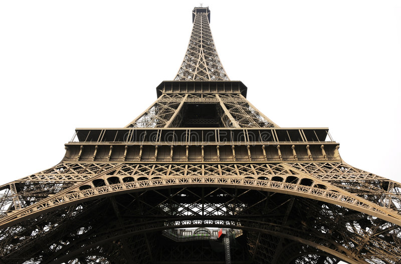 Steel architecture of eiffel tower royalty free stock image