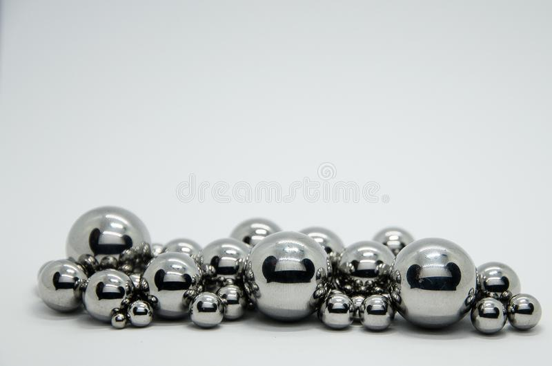 Steel balls. Stainless, bearings object stock photos