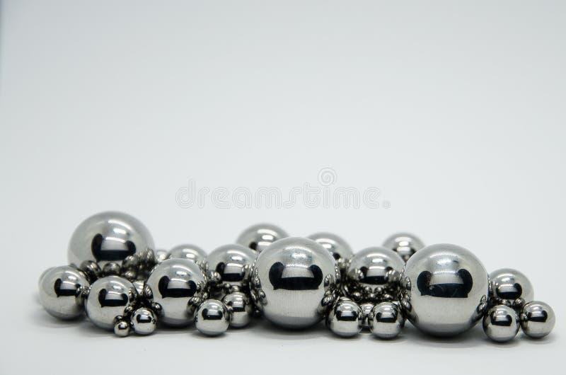 Steel balls stock photos