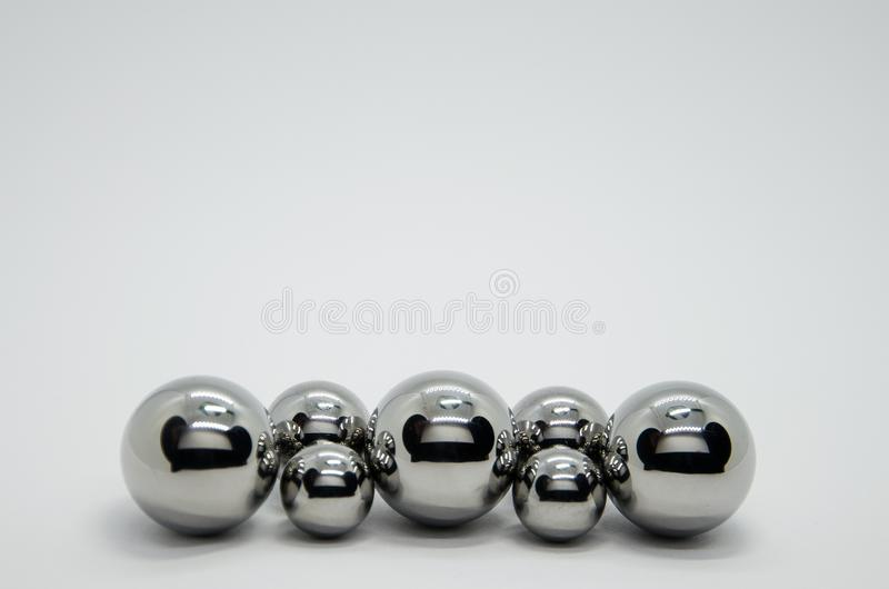 Steel balls. Stainless, bearings object stock photo