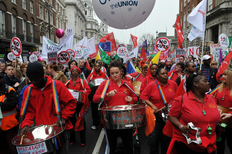Steel Band Plays at Anti-Cuts Rally