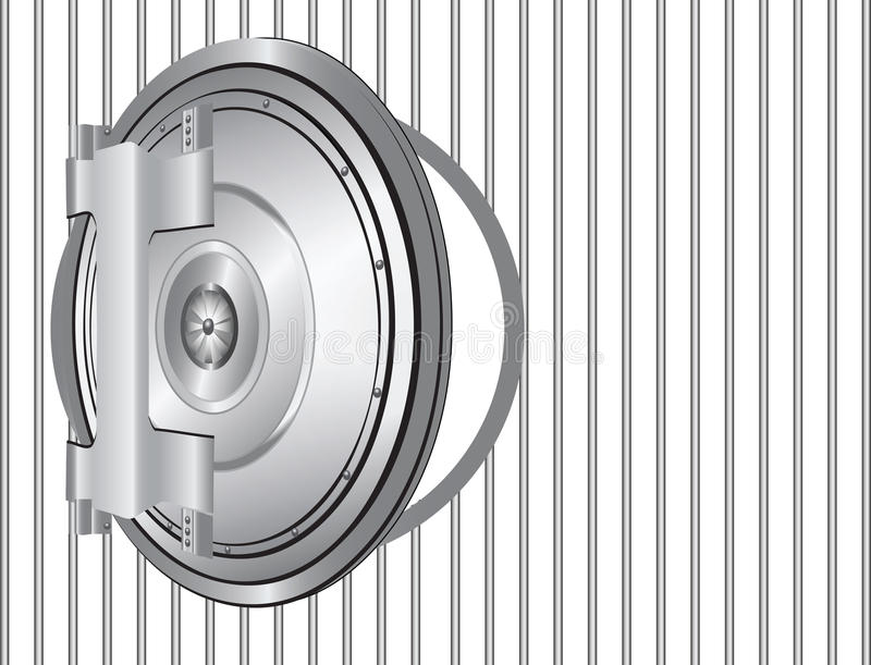 Download Steel bank door stock vector. Illustration of rack, jailhouse - 24484497
