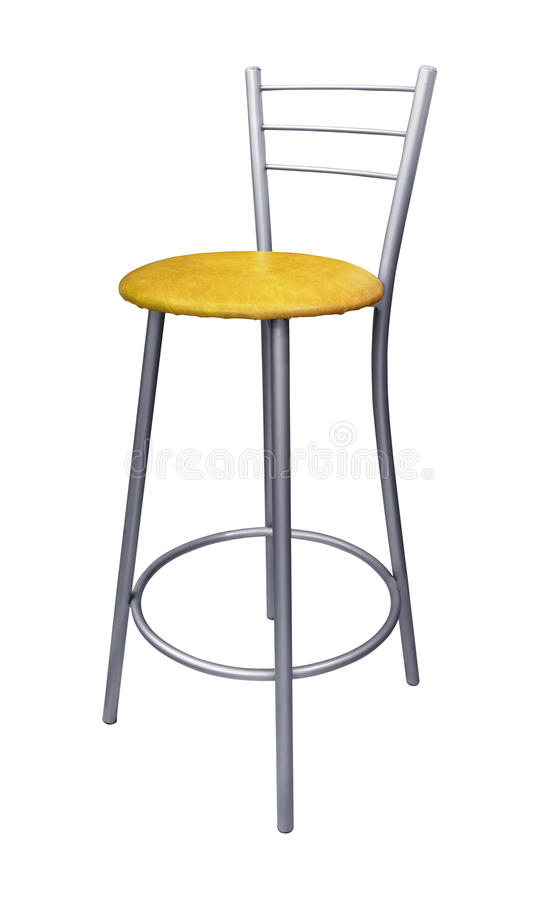 Steel bar stool stock images
