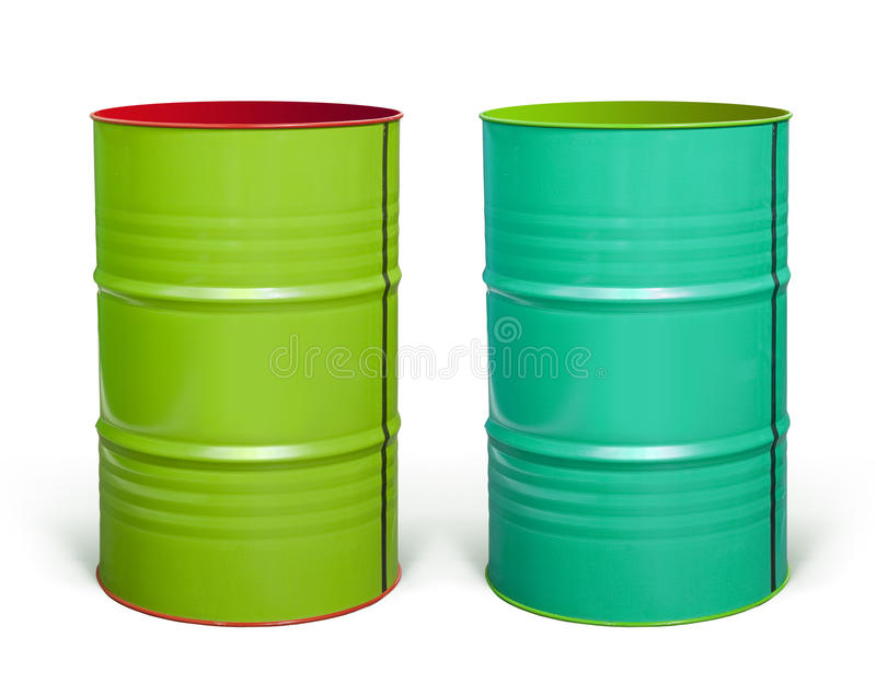 Steel Barrels With Paths Stock Images