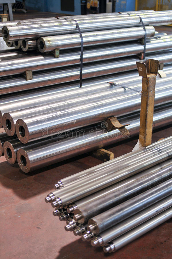 Steel bars. A lot of steel bars, heavy industry stock photography
