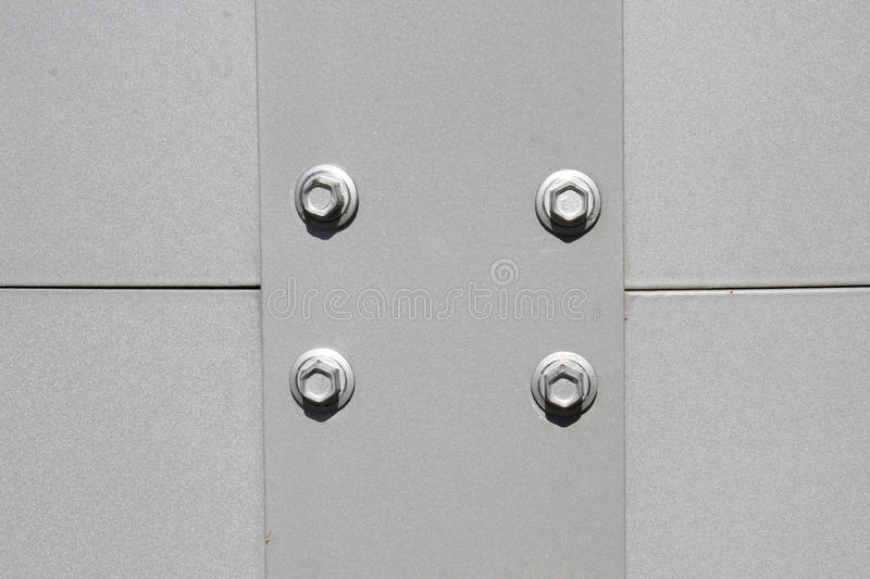 Steel bolts and plate stock photography