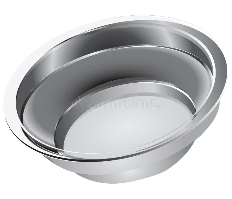 Download Steel bowl stock vector. Illustration of handle, tureen - 28252319