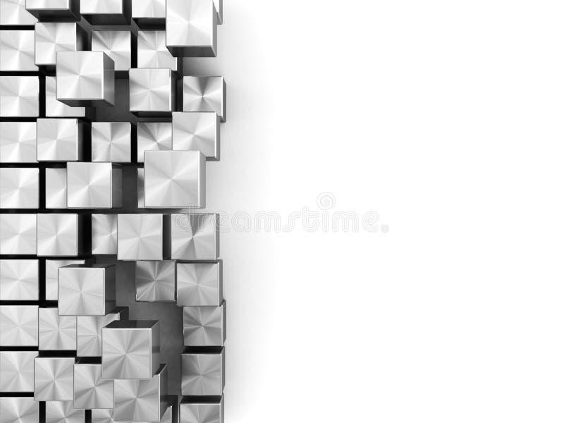 Steel boxes background vector illustration