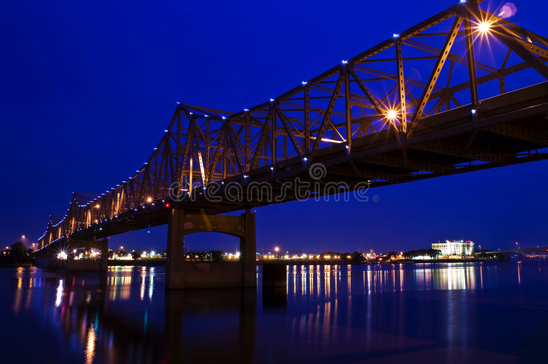 Steel Bridge royalty free stock photography
