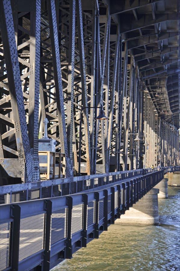 Steel bridge in prtland oregon stock image