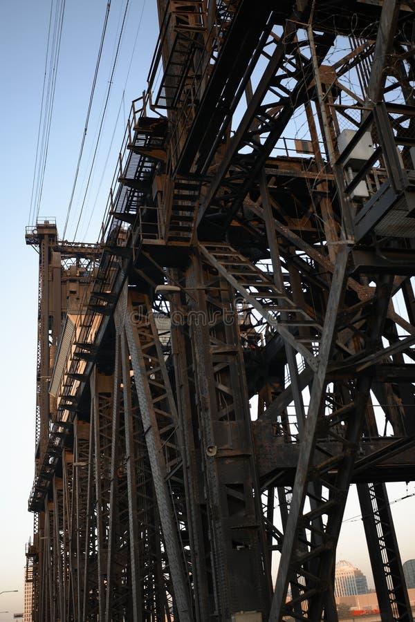 Steel Bridge structure stock images