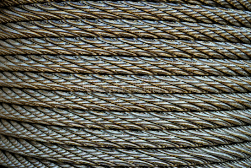 Steel Cable. Industrial steel cable on reel stock photos