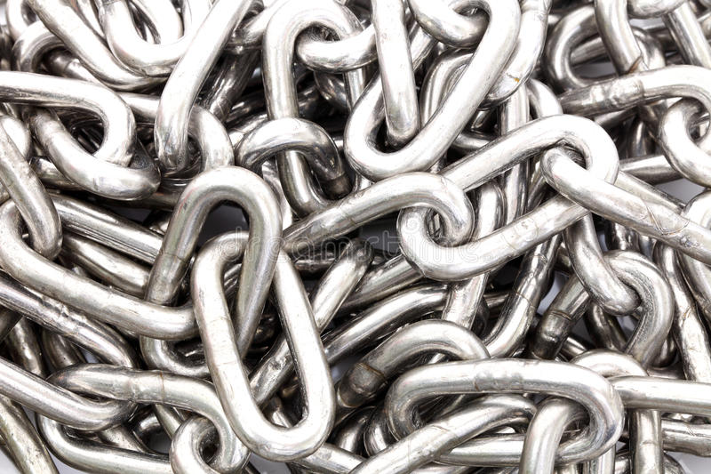 Steel chain. For the background stock photo