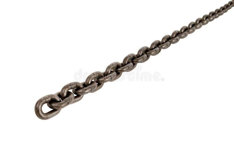 Steel chain isolated. Steel chain, on white background; isolated stock photography