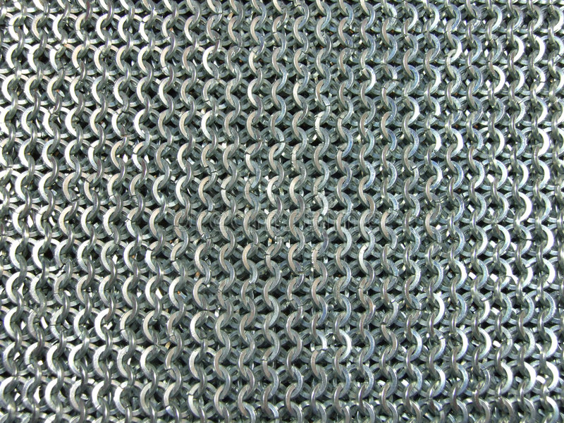 Steel Chain Mail Texture stock images