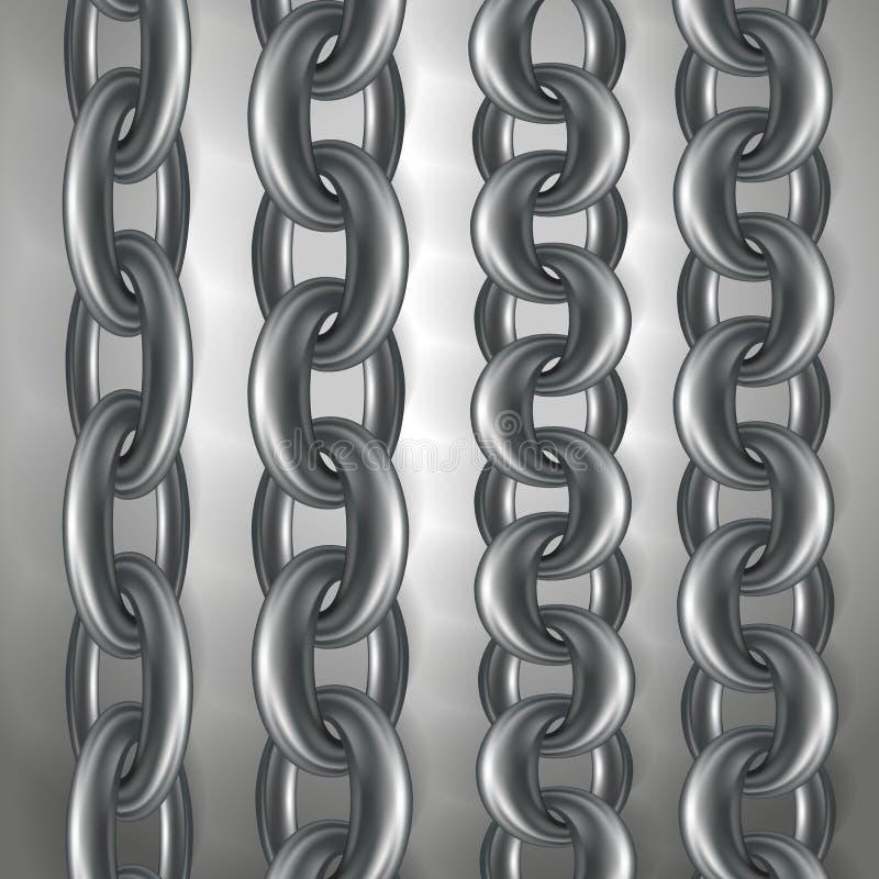 Steel chains vector illustration