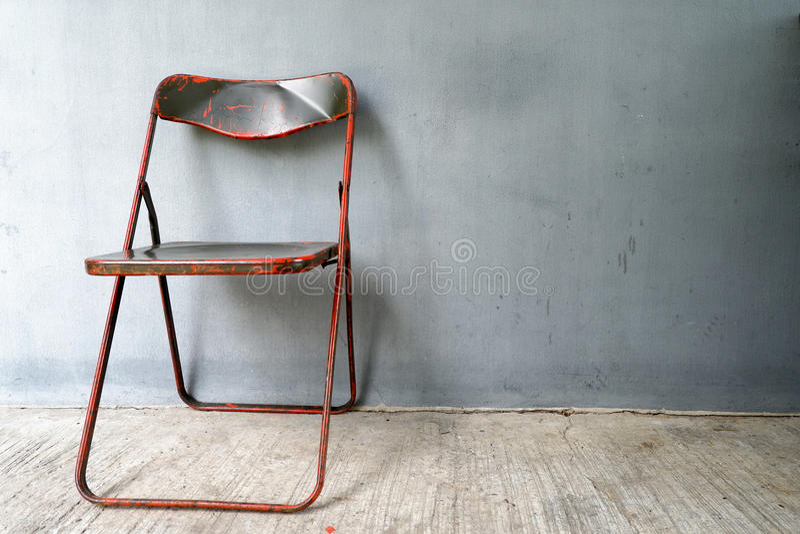Steel chair. stock photo