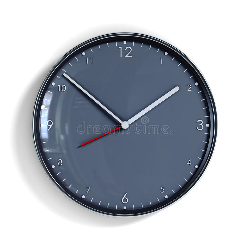 Download Steel clock stock illustration. Image of measuring, time - 7231640