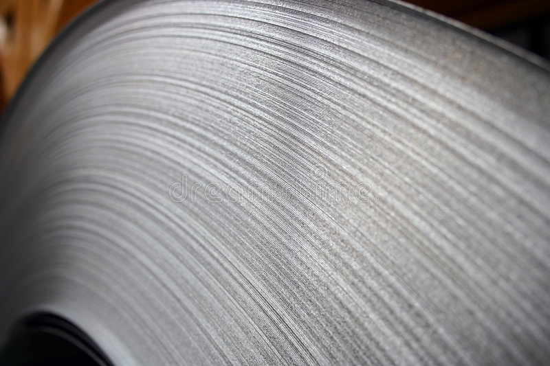 Download Steel Coil Close-Up stock image. Image of stainless, field - 9317237