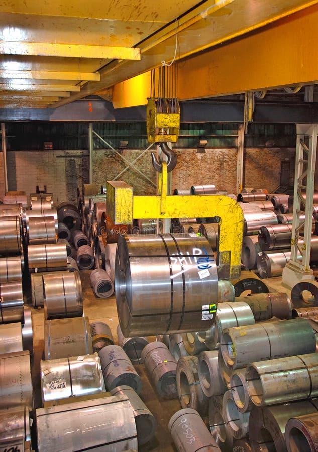 Download Steel Coil Crane stock image. Image of coils, cranes, heavy - 2367005