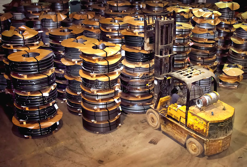 Download Steel Coil Warehouse Hilo stock image. Image of forklift - 2404569