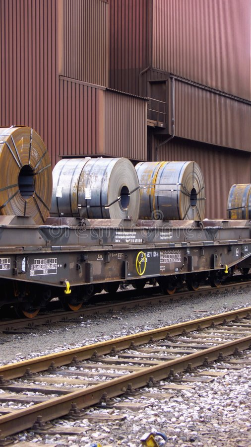 Steel Coils Stock Photo