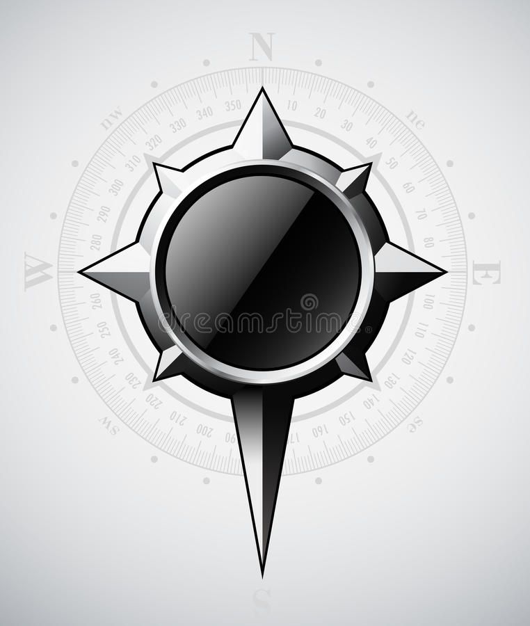 Download Steel Compass Rose With Scale Stock Vector - Image: 29204700