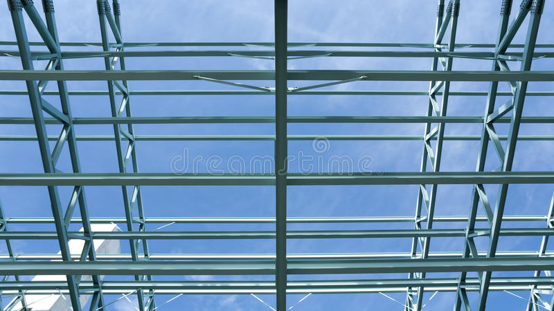 Steel Construction Frame stock photo