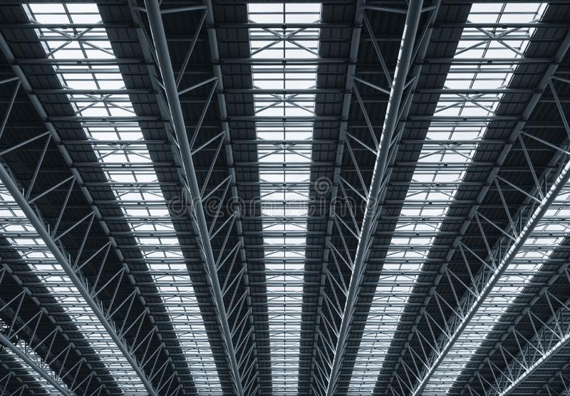 Steel construction  Roof details Modern Architecture stock image