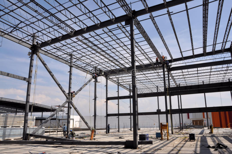 Steel Construction site stock photography