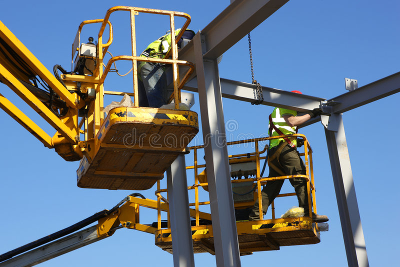 Steel Construction Workers stock photo