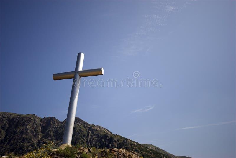 Steel Cross stock photography