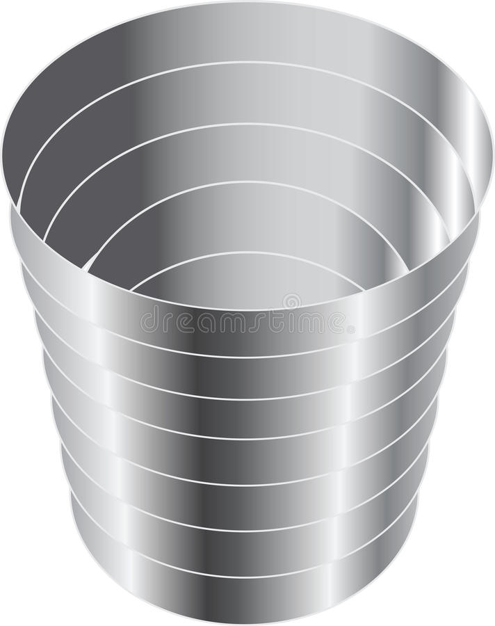 Download The steel cup for wine stock vector. Image of modular - 23521223