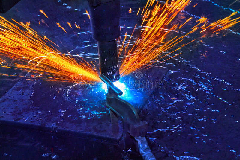 Steel Cutting royalty free stock image