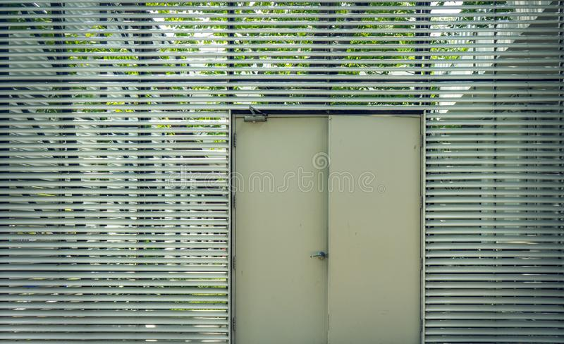 Steel door used to open and close the house royalty free stock photos