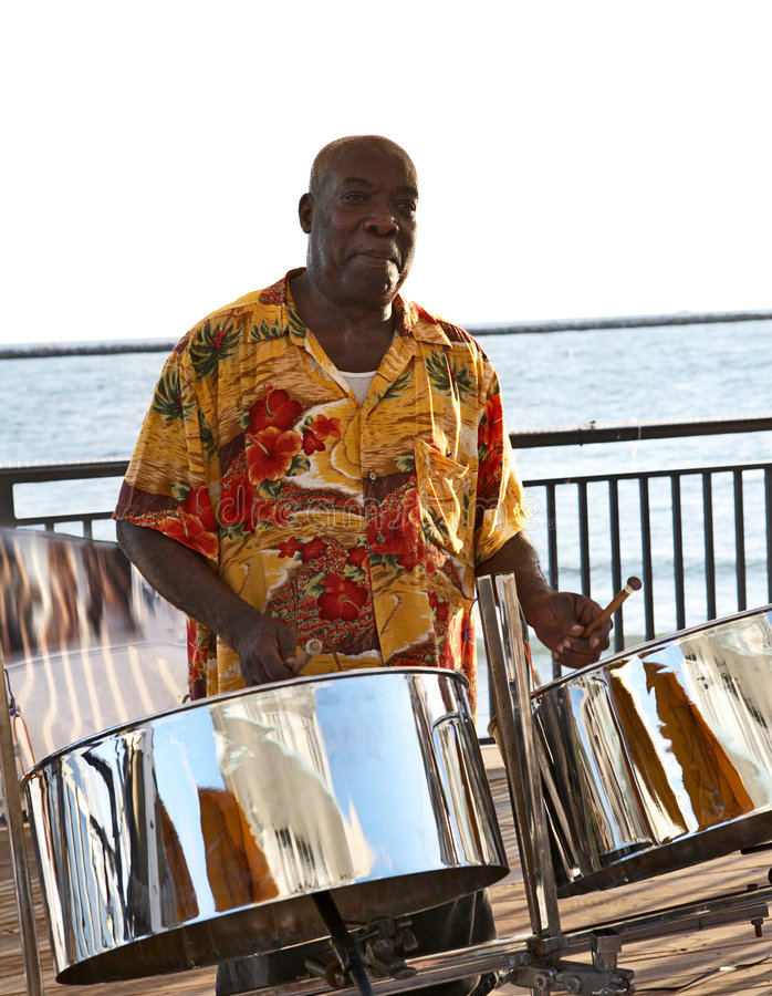 Steel Drummer stock image