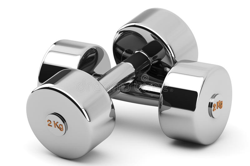Download Steel Dumbbells stock illustration. Image of nobody, fitness - 25492765