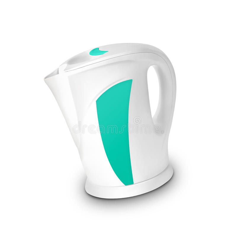 Steel electric kettle isolated. On white background royalty free stock image