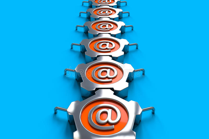 Steel Email Stock Photo