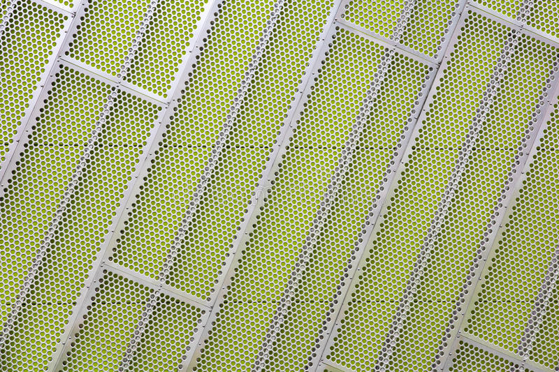 Download Steel Facade Cladding On A Green Wall Stock Image - Image: 25528323