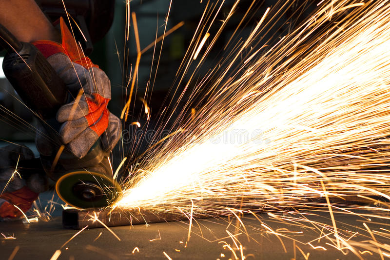 Download Steel factory stock photo. Image of grinder, industrial - 15586106