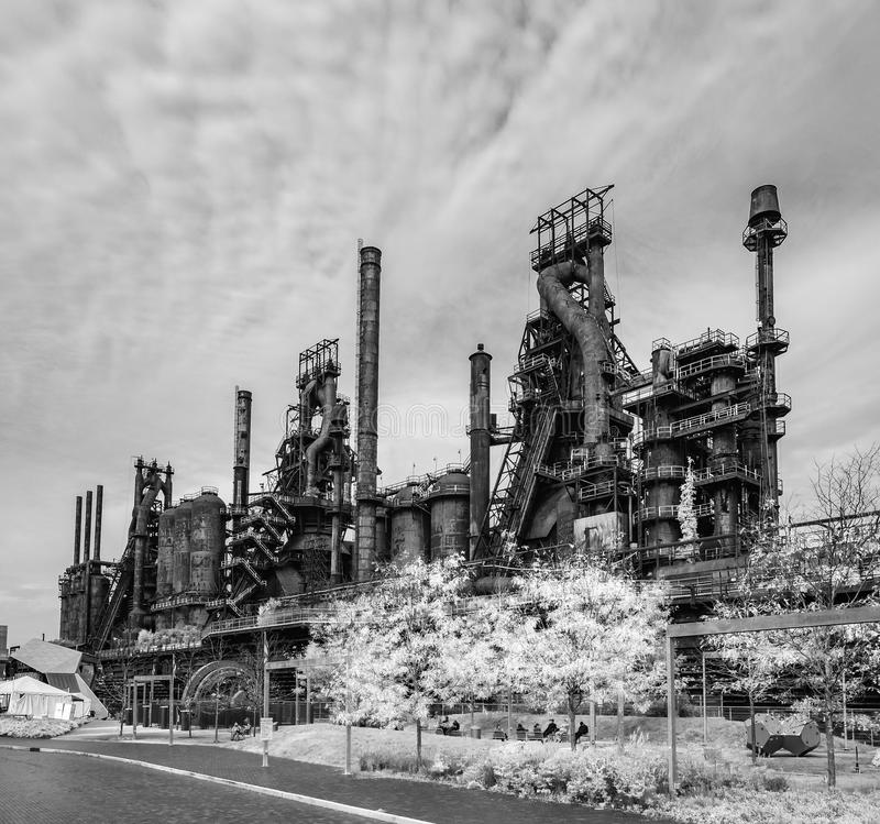 Steel factory still standing in Bethlehem PA royalty free stock photography