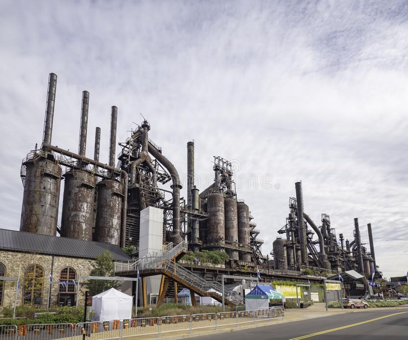 Steel factory still standing in Bethlehem PA royalty free stock images