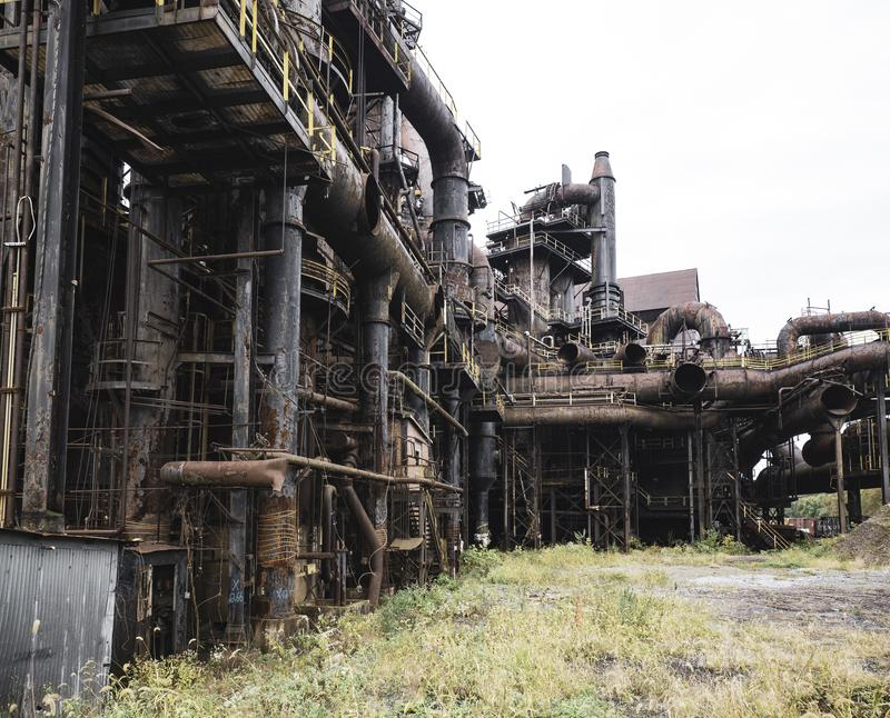Steel factory still standing in Bethlehem PA royalty free stock photo
